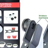 Universal Clip Lens 3 in 1 (Macro, Wide, Fish Eye) !! ^^