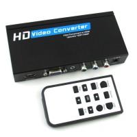 VGA / COMPONENT YPbPr + USB media Player TO HDMI CONVERTER BOX