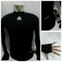 Jual Baselayer Manset Bola Adidas Black Climacool Murah