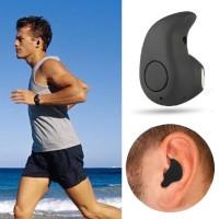 Mini Earphone Telinga Via Bluetooth + Mikrofon + Jawab/hubungi + Musik