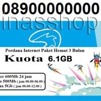 Kartu perdana internet 3 paket hemat netmax 6.1GB 3 bulan