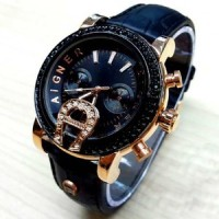 Jam Tangan Wanita Aigner A37200 Diamond RG Leather (5 warna)