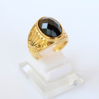 harga Cincin Batu Onyx Hitam Titanium Gold - Cincin Batu Pria Titanium Tokopedia.com