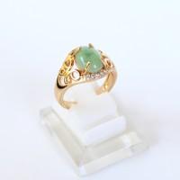harga Cincin Batu Giok Hijau Xuping Gold Lapis Emas - Cincin Batu Wanita Tokopedia.com