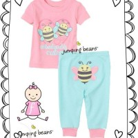 PAJAMAS JUMPING BEANS PINK BEE-RSBY-1208