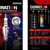 Busi Motor CR7EIX DOUBLE IRIDIUM DURATION (Blade, Absolute Revo,