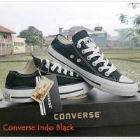 Jual paling murah sepatu sekolah converse hitam putih 24-45 size + box Murah