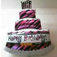 Foil Kue Tart Happy Birthday uk.100cm