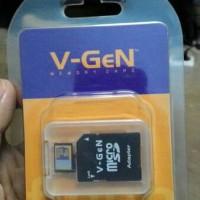 memori memory micro SD VGEN 16 GB + adapter reader garansi 1 tahun