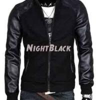 Jaket Ariel / Jaket Night Black / Jaket kulit / Jaket Semi kulit