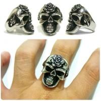 Ring Skull Skull Ring cincin tengkorak Black Rose