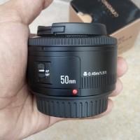 Jual lensa yongnuo 50mm lens, canon 50mm,  lensa 50mm, lensa canon 50mm Murah