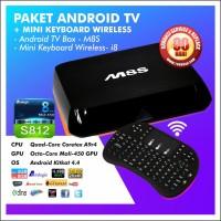 JUAL : Paket Android TV Box - M8S, RAM 2G / 8G + Keyboard Wireless I8