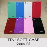 Softcase Glossy Tpu Gel Soft Silikon Kondom Cover Casing Case Oppo R7