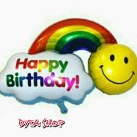 B.FOIL AWAN SMILE *HAPPY BIRTHDAY dan HAVE A NICE DAY*