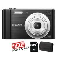Sony DSC-W810 + Memory 8GB+Tas
