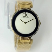 Jam Tangan Wanita / Cewek Calvin Klein / CK Sand Gold