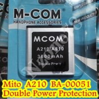 BATERAI MITO A210 A810 BA-00051 MCOM DOUBLE POWER PROTECTION