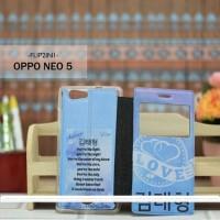 Casing HP Custom Flip 2in1 Oppo Neo 5