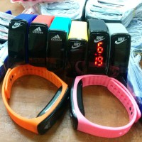 harga Jam tangan gelang LED layar kaca plastik (sporty) Tokopedia.com