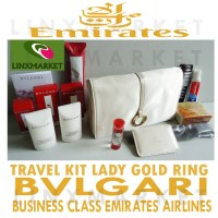 TRAVEL KIT BVLGARI LADY CREAM FROM EMIRATES AIRLINES CLASS BUSINESS