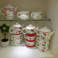 harga Tea Set / Teko Set Susun Keramik Karakter Hello Kitty Doraemon Tokopedia.com