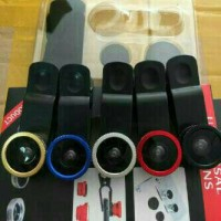 universal clips lens/lensa 3in1(FISH EYE, WIDE, MICRO(