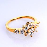 harga Cincin Wanita Perak Sterling 925 Berlapiskan Emas Kuning Rl 065 Tokopedia.com