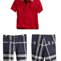 Baju Anak - Burberry Set Red (BO-383)