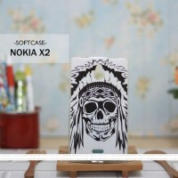 Casing HP Custom Softcase Nokia X2 Indian Skull