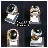 Jual Cincin Batu Giok Black Sojol + Ring TITANIUM (GBS03) Murah