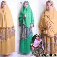 Hijab 2in1 Gamis Set Hafidzah Batik Bergo