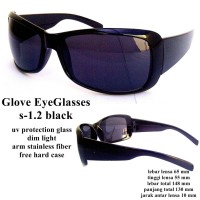 KACAMATA SUNGGLASS EYEWEAR GLOVE BLACK S 1.2 FULL SET