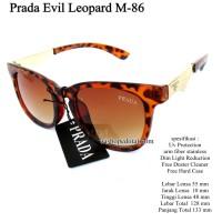 kacamata sunglasses eyewear fashion prade evil leopard full set