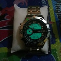 Swiss Army Dualtime Silver black