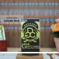 Casing HP Custom Hardclear Xiaomi MI4I Awesome