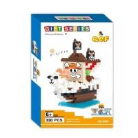 Lego Nano Block QCF One Piece Ship 9855