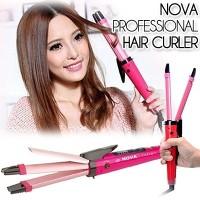 harga Catok rambut NOVA 2 in 1 Original Lurus Keriting lapisan Nano Ceramic Tokopedia.com