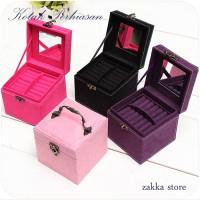 3 Layer Jewelry Box / Kotak Perhiasan / Kotak Penyimpanan Aksesoris