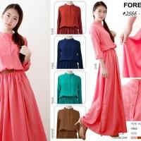 Busana Muslim Modern Murah Forever 8 Long Dress 2566