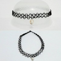 harga Choker Tattoo Necklace White Pearl | Kalung Handmade Tokopedia.com