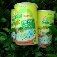 bubur bayi organik bebiluck kemasan kaleng 300 gram