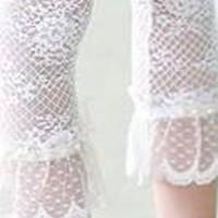 Pants B5735 Girl ~ Legging Renda White