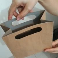 Recycled Paperbag Tebal Coklat ukuran 18 x 18 cm rongga 9 cm