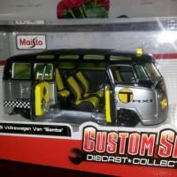 diecast maisto custom / miniatur mobil vw samba taxi