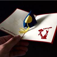 Graduation Hat - 3D Gift Card Haiku Kartu Ucapan Wisuda