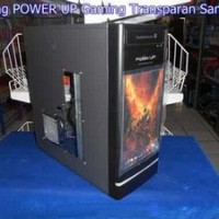 Casing CPU / Casing Komputer / Casing POWER UP Gaming Transparan