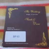 Undangan Pernikahan Hard Cover BP03