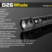 [MG]Senter Xtar D26 Diving Waterproof LED CREE XM-L2 U3 1100 Lumens