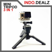 3 IN 1 MINI TRIPOD FOR CAMERA GO PRO HERO SJCAM SONY XIAOYI XIAOMI